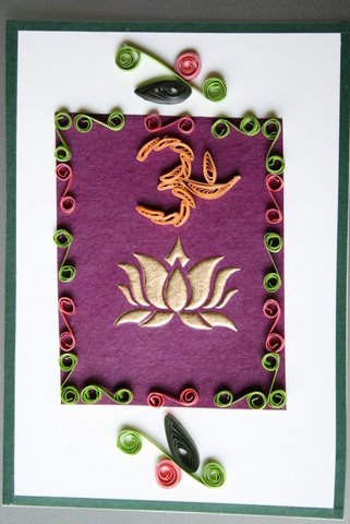 Om and Lotus Card