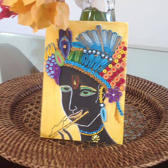 Krishna Quilling and Flowers